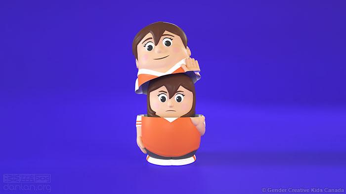 用套娃帮儿童理解跨性别人群