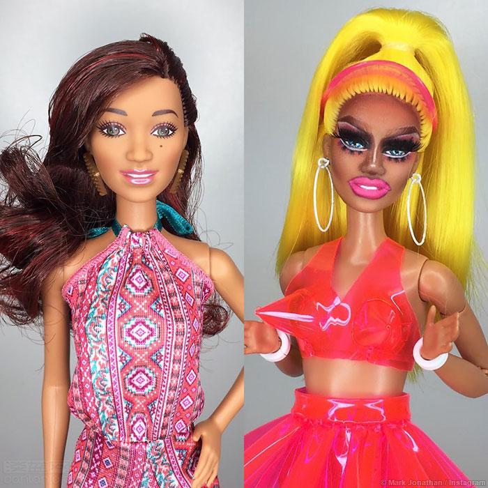 芭比娃娃化身变装皇后,突破传统形象