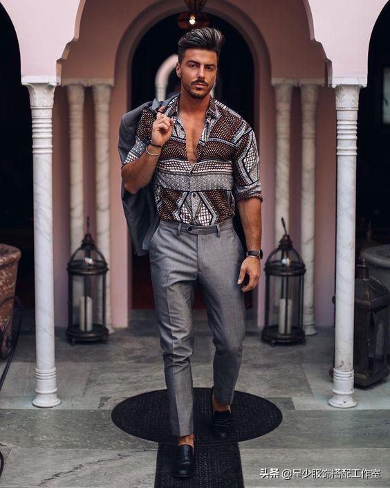 男人穿花衬衫忒骚?5种搭配让你变型男代表