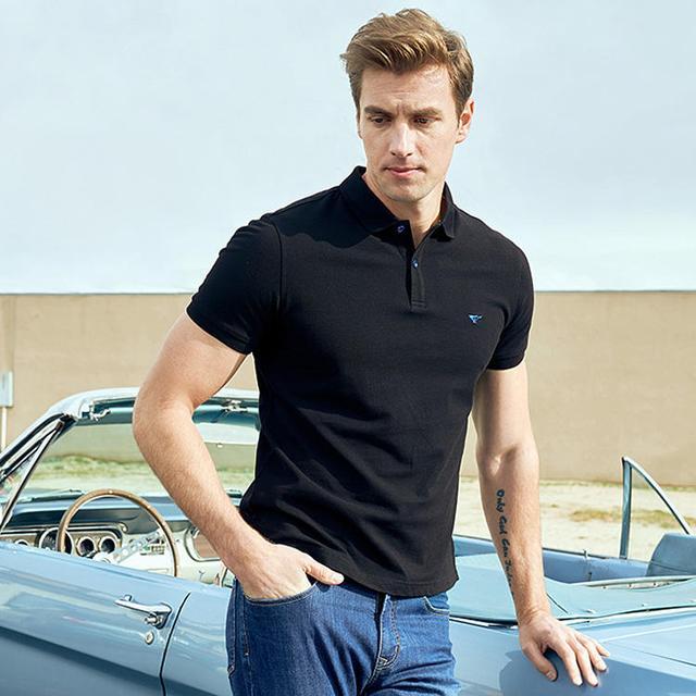 超正式的翻领T恤,打造商务男士的感觉