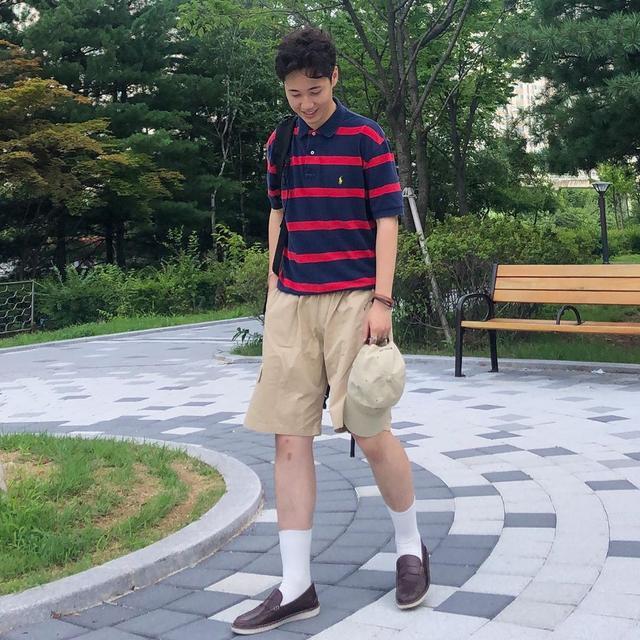 男生夏日别乱穿衣服,有这5套短裤穿搭就够了,帅气阳光颜值高
